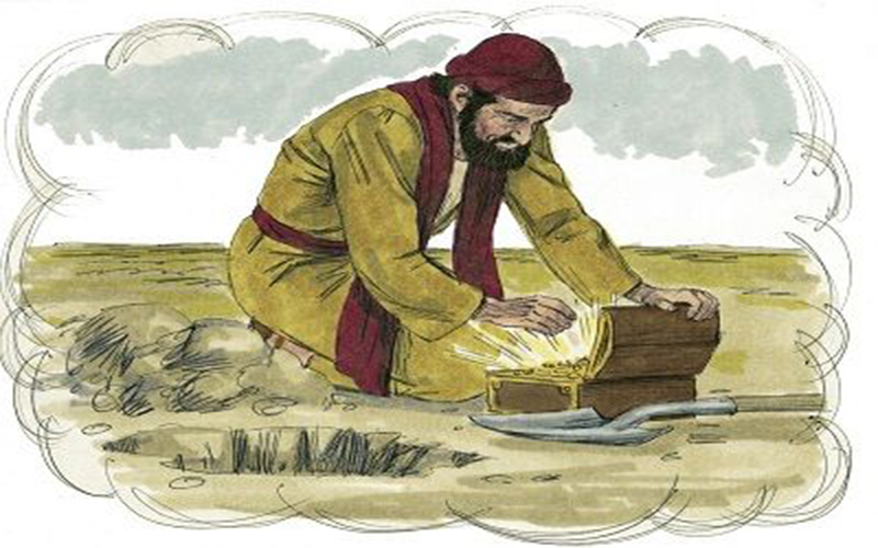 Resultado de imagen para El Reino de los Cielos es semejante a un tesoro escondido en un campo que