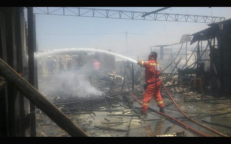 Nuevo Chimbote: incendio arrasa con cinco ranchos de una invasión