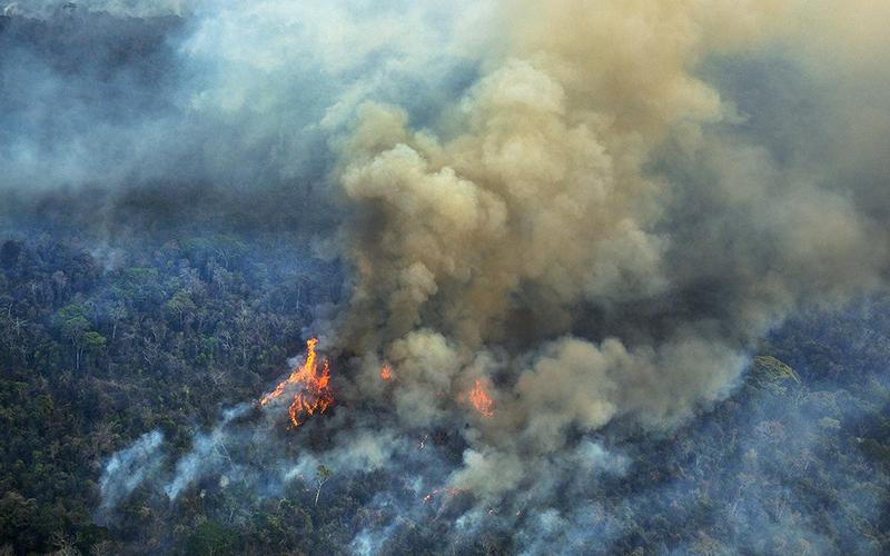 Brasil en llamas