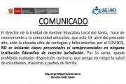 ugel_santa_reinicio_de_clases_presenciales_2021
