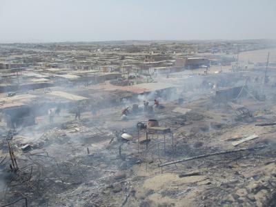 Nuevo Chimbote: incendio consume viviendas de unas 30 familias