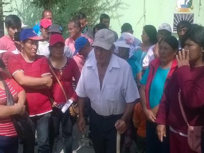 Protesta pobladores Tangay Medio