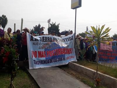 Protesta tierra prometida