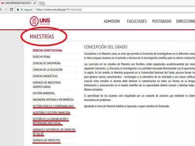 Universidad Nacional del Santa_maestrías_Sunedu